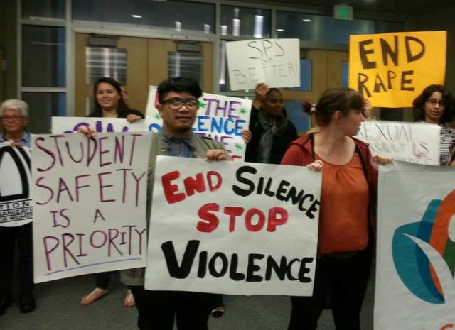 Seattle School District protest over rape case