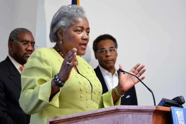 Donna Brazile is vice chair of voter registration for the Democratic party