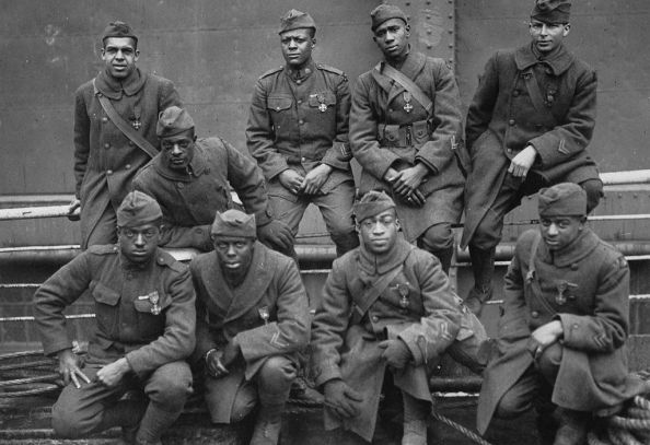 Men from the Harlem Hellfighters regiment