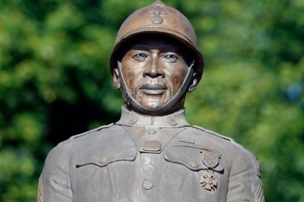 Statue of Sgt. Henry Lincoln Johnson located in Albany, N.Y.