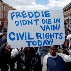 Baltimore protest sign