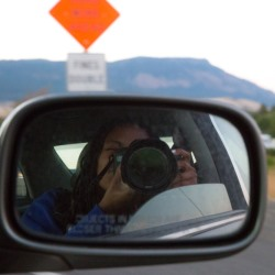 Photographer Intisar Abioto snaps a flick while on the road for State of Black Oregon