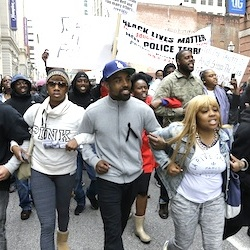 Protestors march for Freddie Gray