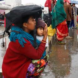 mother and infant in Nepal