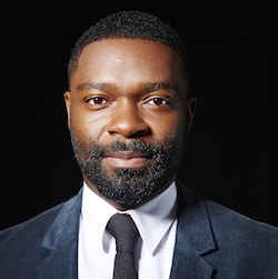 "David Oyelowo poses for a portrait in New York. Oyelowo plays an emotionally damaged man losing himself further after a spasm of off-camera violence in HBO's ""Nightingale,"" a role which garnered him an Emmy nomination on July 16. The 67th Annual Primetime Emmy Awards will take place on Sept. 20. (Photo by Dan Hallman/Invision/AP)"
