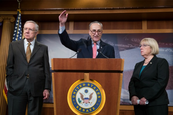 Sen. Harry Reid, D-Nev., Sen. Chuck Schumer, Sen. Patty Murray