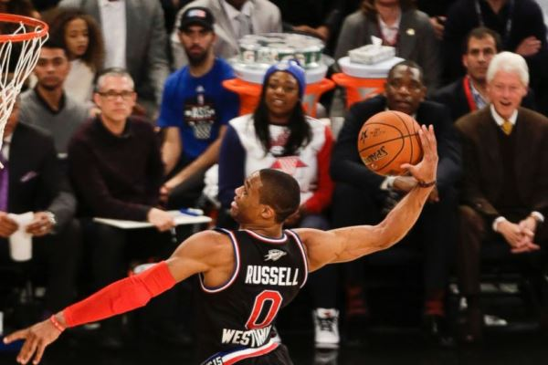 Russel Westbrook throws it down at All-Star weekend