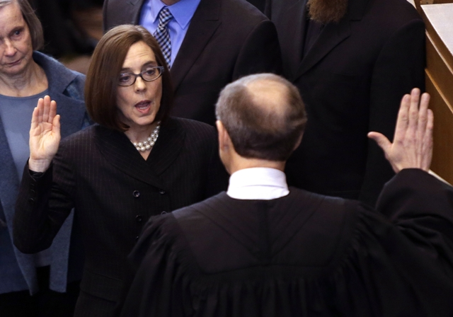 Gov. Kate Brown swearing-in ceremony
