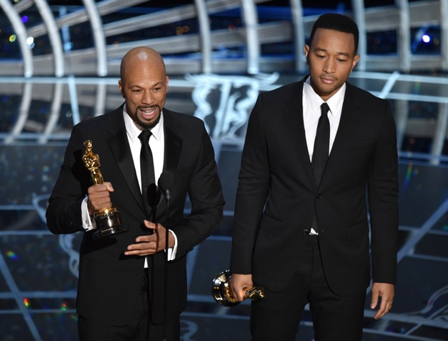 Common and John Legend accept Oscar for best theme song, Glory from Selma