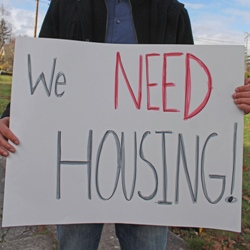 Picket Sign: We Need Housing