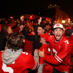 Buckeyes fans lit dozens of fires after their team's victory