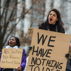 Protesters march against police brutality in Pennsylvania State Capitol