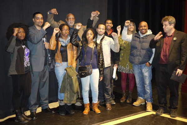 Hagopian with Black Student Union at Garfield High School