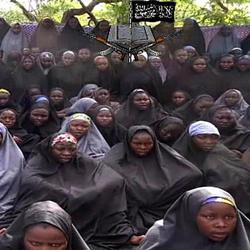 kidnapped Nigerian girls in Boko Haram video