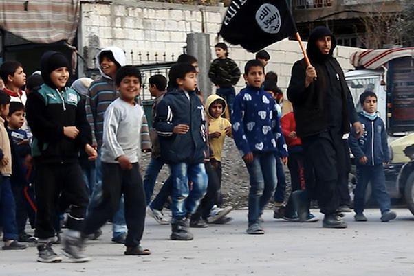 Islamic State fighter controlling children