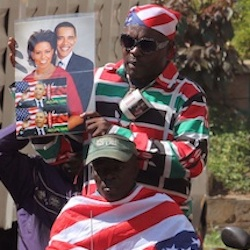 Kenyans welcome President Barack Obama