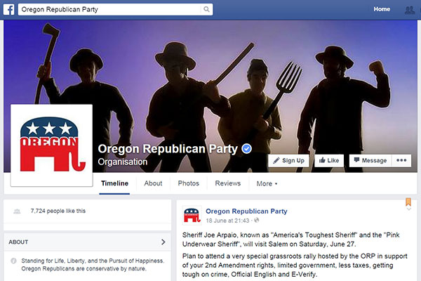 Oregon GOP angry mob FB photo