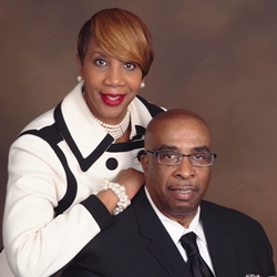 Bishop C.T. Wells, his wife First Lady DeAngeloa Wells