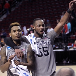 Georgetown Hoyas D'Vauntes Smith-Rivera and Jabril Trawick
