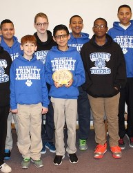 Trinity Lutheran School Tigers with trophy