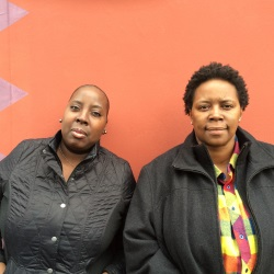 NAV creator Nicole Taylor (right) stands with Dyrenda Waller