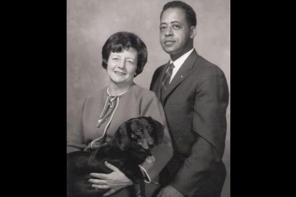 Betty and Barney Hill and their dog, Desley