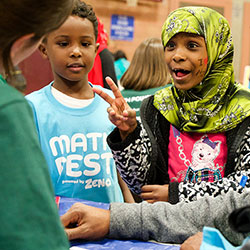 Math Fest held Nov. 5, 2015 at Rainier Community Center. Photo by Susan Fried