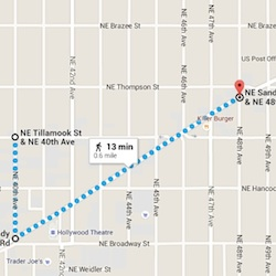 Map of Ross Hollywoood Veterans Parade route