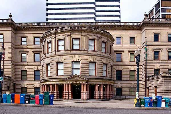 Exterior shot of Portland City Hall