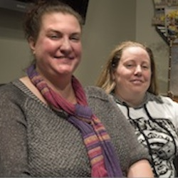oster parents April Hoagland and Beckie Peirce are photographed on Wednesday, Nov. 11, 2015 in Salt Lake City. A judge who ordered that a baby be taken away from April Hoagland and Beckie Peirce, her lesbian foster parents and placed with a heterosexual couple should follow the law and not inject his personal beliefs into the matter, Utah's Republican governor said Thursday, Nov. 12. (Steve Griffin/The Salt Lake Tribune via AP)