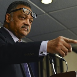 Rev. Jesse Jackson says that the sad irony is that the South has benefited the most from the civil rights movement, Whites and African-Americans together. Photo taken during a panel discussion on the the Voting Rights Act of 1965 at the National Press Club in Washington, D.C. on February 18, 2015(Freddie Allen/NNPA News Wire)