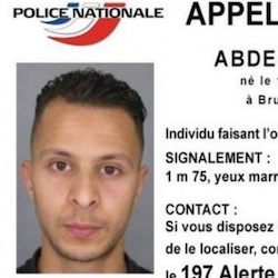 Wanted poster for Salah Abdeslam