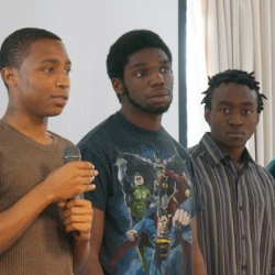 Youth at a Black Male Achievement workshop Sept. 26, 2015.