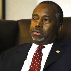 n this photo taken Oct. 28, 2015, Republican presidential candidate Ben Carson discusses faith during an exclusive interview with The Associated Press at a hotel in Broomfield, Colo. In a wide-ranging interview about his faith with The Associated Press, Ben Carson expressed pride in his little-known Seventh-day Adventist church, but also sought some distance from it, framing his beliefs in the broadest Christian terms as his surging campaign prompts scrutiny of his religion.(AP Photo/Brennan Linsley