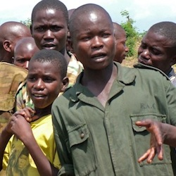 Former boy soldiers from Democratic Republic of Congo