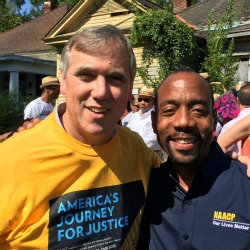 U.S. Sen. Jeff Merkley with Cornell Brooks, President & CEO of the NAACP