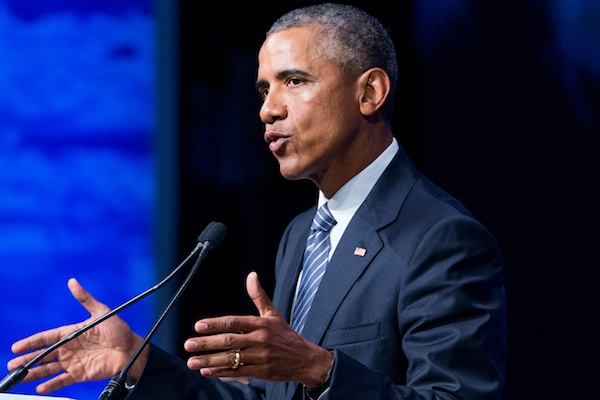 President Barack Obama speaks in Anchorage, Alaska. Obama will sign an executive order Monday, Sept. 7, requiring paid sick leave for employees of federal contractors, including 300,000 who currently receive none. (AP Photo/Andrew Harnik, File)