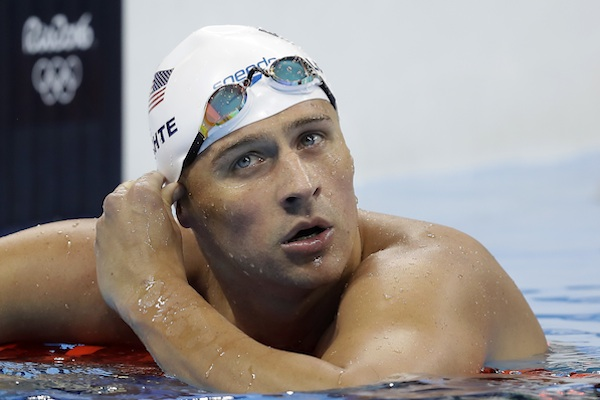 United States' Ryan Lochte checks his time in a men's 4x200-meter freestyle heat during the swimming competitions at the 2016 Summer Olympics, in Rio de Janeiro, Brazil. Add two fresh entries to the increasingly popular genre of non-apology apologies. In a span of 15 hours, politician Donald Trump and Lochte both coughed up carefully crafted words of contrition, each without fully owning up to exactly what he'd done wrong. (AP Photo/Michael Sohn, File)