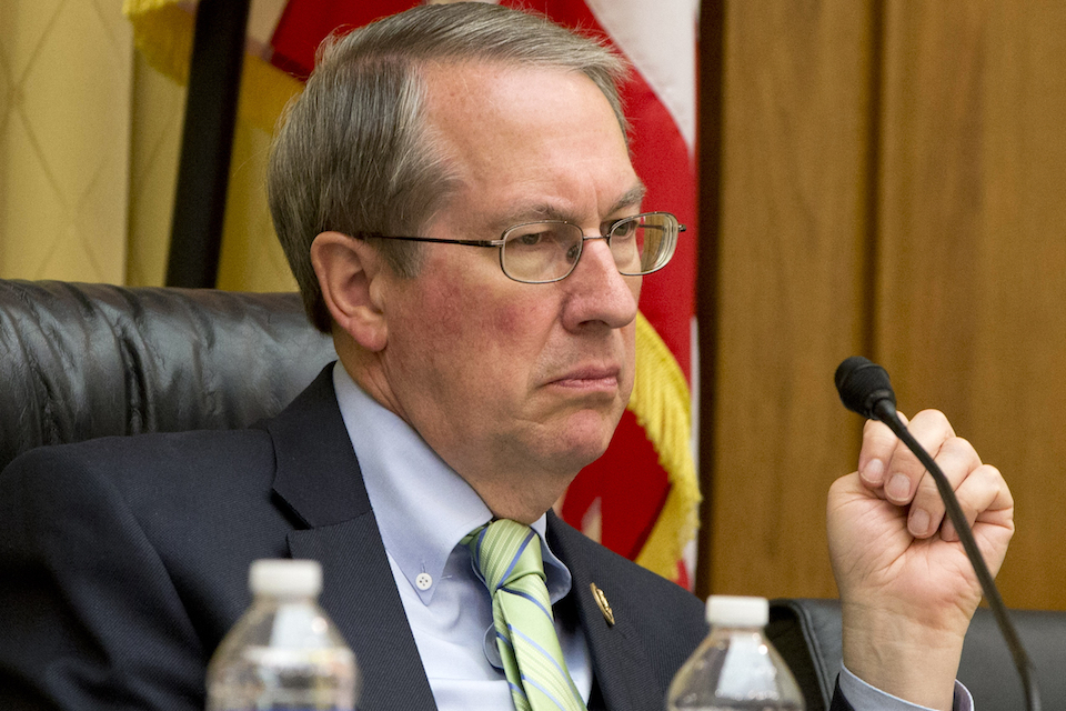 House Judiciary Committee Chairman Rep. Bob Goodlatte, R-Va., listens to testimony on Capitol Hill in Washington, May 19, 2015. House Republicans on Monday, Jan. 2, 2017, voted to eviscerate the Office of Congressional Ethics. Under the ethics change pushed by Goodlatte, the independent body would fall under the control of the House Ethics Committee, which is run by lawmakers. (AP Photo/Jacquelyn Martin, File)