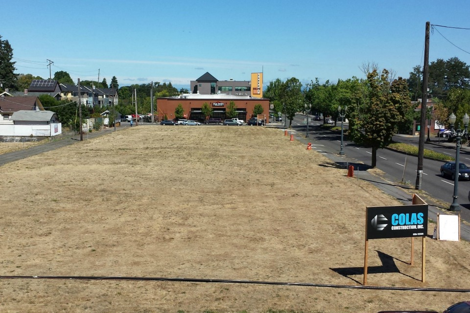 Alberta Commons lot at the corner of Northeast Alberta and MLK Jr Blvd in Portland, Ore
