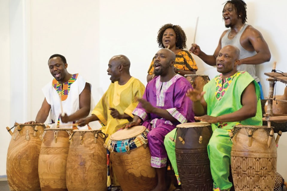 Okropong drum and dance group