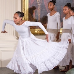 In the East Room of the White House, Washington, D.C. youth dancers perform for Black History Month. | Photo by Cheriss May, Howard University News Service