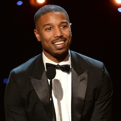 Michael B. Jordan accepts the award for entertainer of the year at the 47th NAACP Image Awards at the Pasadena Civic Auditorium on Friday, Feb. 5, 2016, in Pasadena, Calif. (Photo by Phil McCarten/Invision/AP)