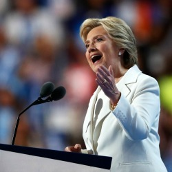 Clinton Promises Steady Hand in Dangerous World
