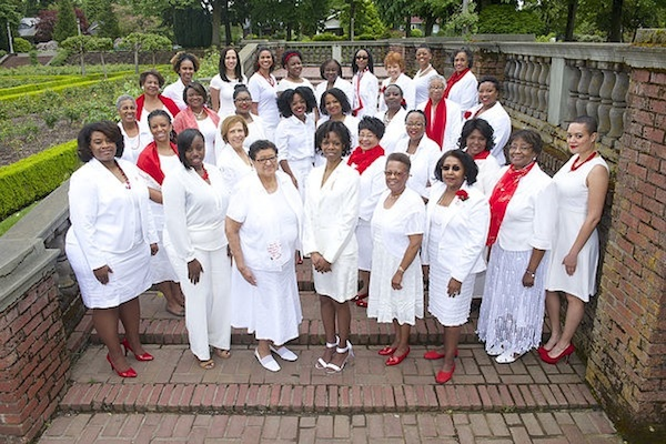 Members of the Portland chapter of Delta Sigma Theta Sorority