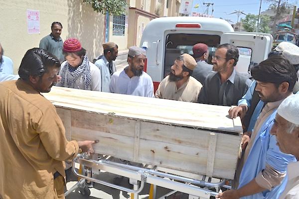 Pakistan coffin