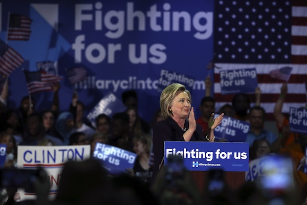 Democratic presidential candidate Hillary Clinton speaks during a campaign rally in Blackwood, N.J. May 11, 2016. For Clinton, whether she is competing against Bernie Sanders or Donald Trump, one concern is much the same. They are outsider candidates riding a wave of populist excitement, while she is viewed as a traditional, establishment choice. As a result, her campaign sometimes just looks a little less exciting. (AP Photo/Mel Evans, File)