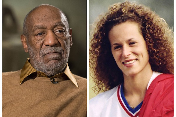 In this combination of file photos, entertainer Bill Cosby pauses during an interview in Washington on Nov. 6, 2014, and Andrea Constand poses for a photo in Toronto on Aug. 1, 1987. Lawyers for Constand say the 43-year-old Toronto resident is ready to testify in Cosby's criminal sex-assault case, but suburban Philadelphia prosecutors may try to avoid a grueling cross-examination by deciding not to call her at the 78-year-old's preliminary hearing scheduled Tuesday, May 24, 2016, in Montgomery County, Pa. (AP Photo/Evan Vucci, left, and Ron Bull/Toronto Star/The Canadian Press via AP, right)