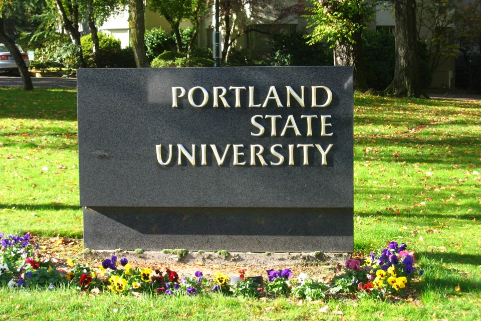 Portland State University, Picture taken October 2006 by Josef Lotz, CC-BY-SA.