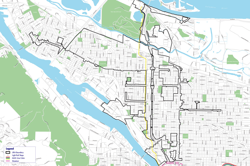 PDC Boundary Map of the Interstate Corridor Urban Renewal Area